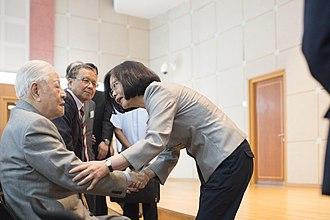 Lee Teng-hui - Lee meeting Taiwanese President Tsai Ing-wen in 2016