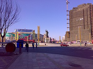 Fuxin - Image: 解放广场 Jie Fang square panoramio