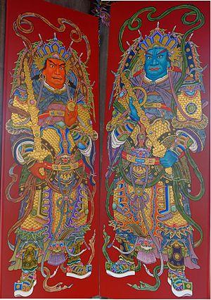 Menshen - Image: 頂泰山巖001門神