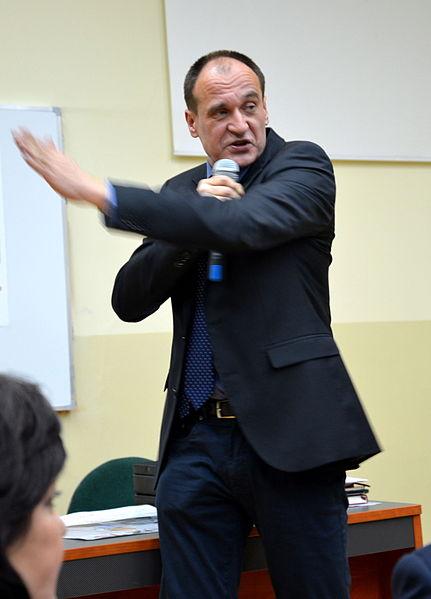 File:02016 095 Pawel Kukiz während der Debatte in Bielsko-Biala.JPG