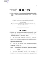 116th United States Congress H. R. 0000109 (1st session) - Equal Protection for American Workers Act.pdf