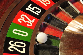 Roulette game of chance