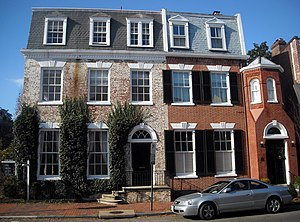John N. Mitchell - One of Mitchell's former residences (left) in Georgetown, Washington, D.C.