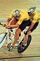 141100 - Cycling track Robert Gray David Murray action - 3b - 2000 Sydney race photo.jpg