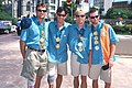 141100 - Welcome Home Parade Neil Fuller Wilson Tim Matthews Heath Francis portrait - 3b - 2000 Sydney parade photo.jpg