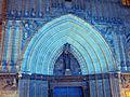 145 Catedral, portal de Sant Iu, durant el festival Llum BCN.JPG