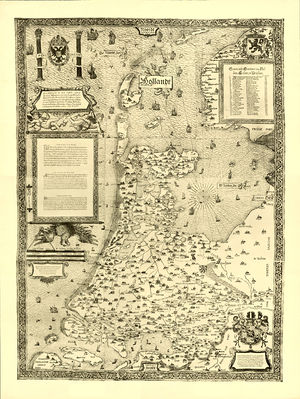 County of Holland - A 1558 map of Holland.