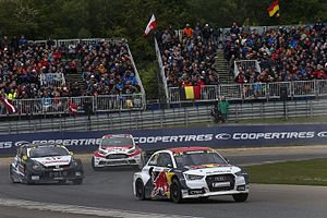 2016 World RX of Belgium - Toomas Heikkinen, Anton Marklund and Niclas Grönholm