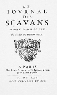 <i>Journal des sçavans</i> French scholarly journal