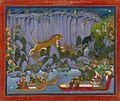 16 Kota Ram Singh II Tiger Hunting. Kotah, c 1830-1840, Cleveland MOA.jpg
