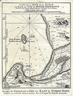 1773 Bellin Map of the Cape of Good Hope, Capetown, South Africa - Geographicus - GoedeHoop-bellin-1773.jpg
