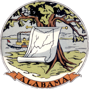 Alabama in the American Civil War - Image: 1817 Alabama seal WPA