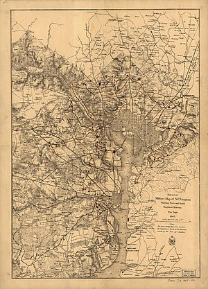Fort Reynolds (Virginia) - Washington D.C. Fortifications map