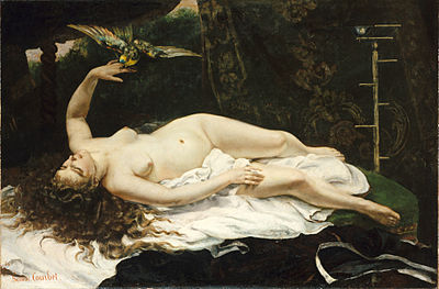 1866 Gustave Courbet - Woman with a Parrot (cropped).jpg
