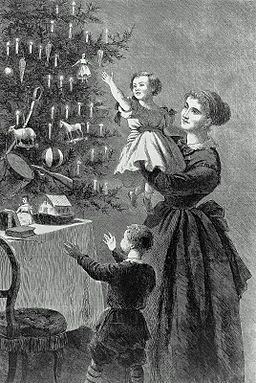 1870 ChristmasTree byEhninger HarpersBazaar