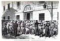 1871-12-15, La Ilustración Española y Americana, Distribución de la comida que diariamente costea la reina para los pobres de Madrid.jpg