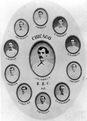 1871 Chicago White Stockings season - Cabinet card of the 1871 Chicago White Stockings