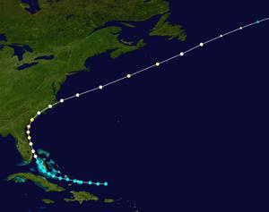 1885 Atlantic hurricane season - Image: 1885 Atlantic hurricane 2 track