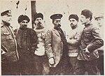1913. Седов, докт. Кушаков, геол. Павлов, худ. Пинегин, Визе, Г.Линник, А.Пустошный.jpg