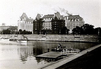 The Empress (hotel) - The Empress in August 1930, years after the hotel's expansion in 1928.
