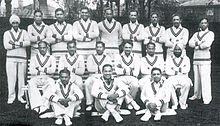 Members of the 1932 Indian Test cricket team that visited England.