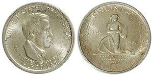 Cleveland Centennial half dollar - Image: 1936 50C Cincinnati