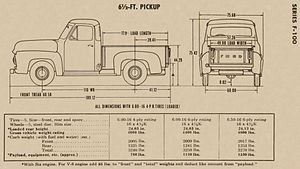 Ford F-Series - 1953 F100 Build Diagram