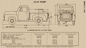 Ford F-Series - 1953 F100 Build Diagram