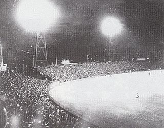 1954 0602 Heiwadai Baseball stadium 1st night geme.jpg