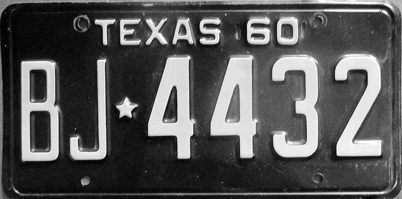 File:1960 Texas license plate.jpg