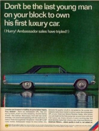 Roy Abernethy - Image: 1966 AMC Ambassador DPL ADV blue