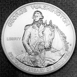 George Washington 250th Anniversary half dollar
