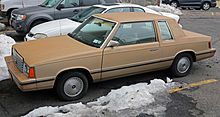 1982 1984 Dodge Aries Coupe 1985 1989 1983 Plymouth Reliant