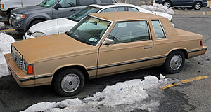 Plymouth Reliant - 1982–1984 Dodge Aries coupe