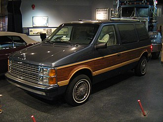 Chrysler minivans (S) - A 1986 Dodge Caravan at the Smithsonian National Museum of American History
