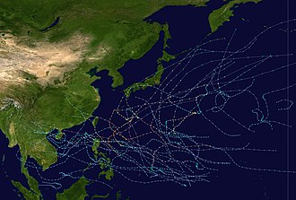 1996 Pacific typhoon season - Image: 1996 Pacific typhoon season summary