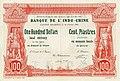 1 Dollar (Piastre) - Banque de l'Indo-Chine, Canton Shameen (Shamian Island) Branch (1901) 01.jpg