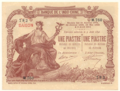 1 Piastre - Banque de l'Indo-Chine, Saigon Branch (1909-1921, Overstamp type 4) 01.png