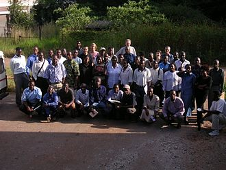 University of Zimbabwe - Postgraduate water resources students in the Faculty of Engineering, University of Zimbabwe, with their professors and lecturers.