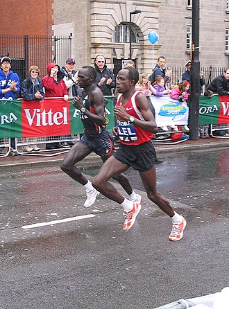 Lisbon Half Marathon - Martin Lel (right) is historically the most successful male runner of the competition