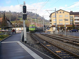 Kehrsatz - Kehrsatz rail station.  About three-quarters of the working population commute for jobs