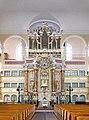 20070508155DR Großenhain Marienkirche Kanzelaltar mit Orgel.jpg