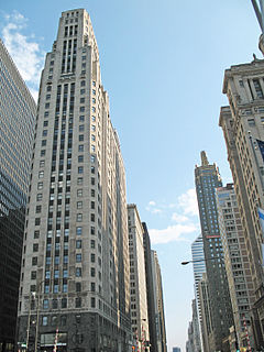 333 North Michigan Art Deco skyscraper on Michigan Avenue in Chicago, Illinois