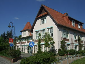 Wandlitz - The townhouse in Wandlitz, former being a private hotel.