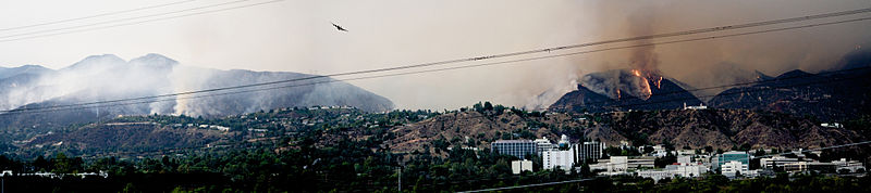 2009 California Wildfires at JPL - Pasadena, California.jpg