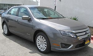 2010 Ford Fusion Hybrid photographed in Silver...