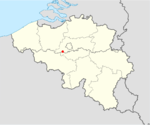 Location of where the collision occurred within Belgium