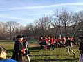 2014-12-27 15 04 29 Reenactors assembling in Mill Hill Park during a reenactment of the Second Battle of Trenton in Trenton, New Jersey.JPG
