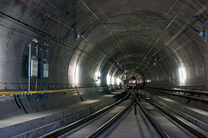 Gotthard Base Tunnel - Turnout at Faido multifunction station