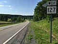 2016-06-25 17 14 22 View west along West Virginia State Route 127 (Bloomery Pike) just west of Pugh Farm Lane in Good, Hampshire County, West Virginia.jpg